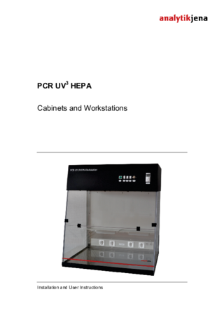 Manual UVP PCR3 Cabinets/Workstations